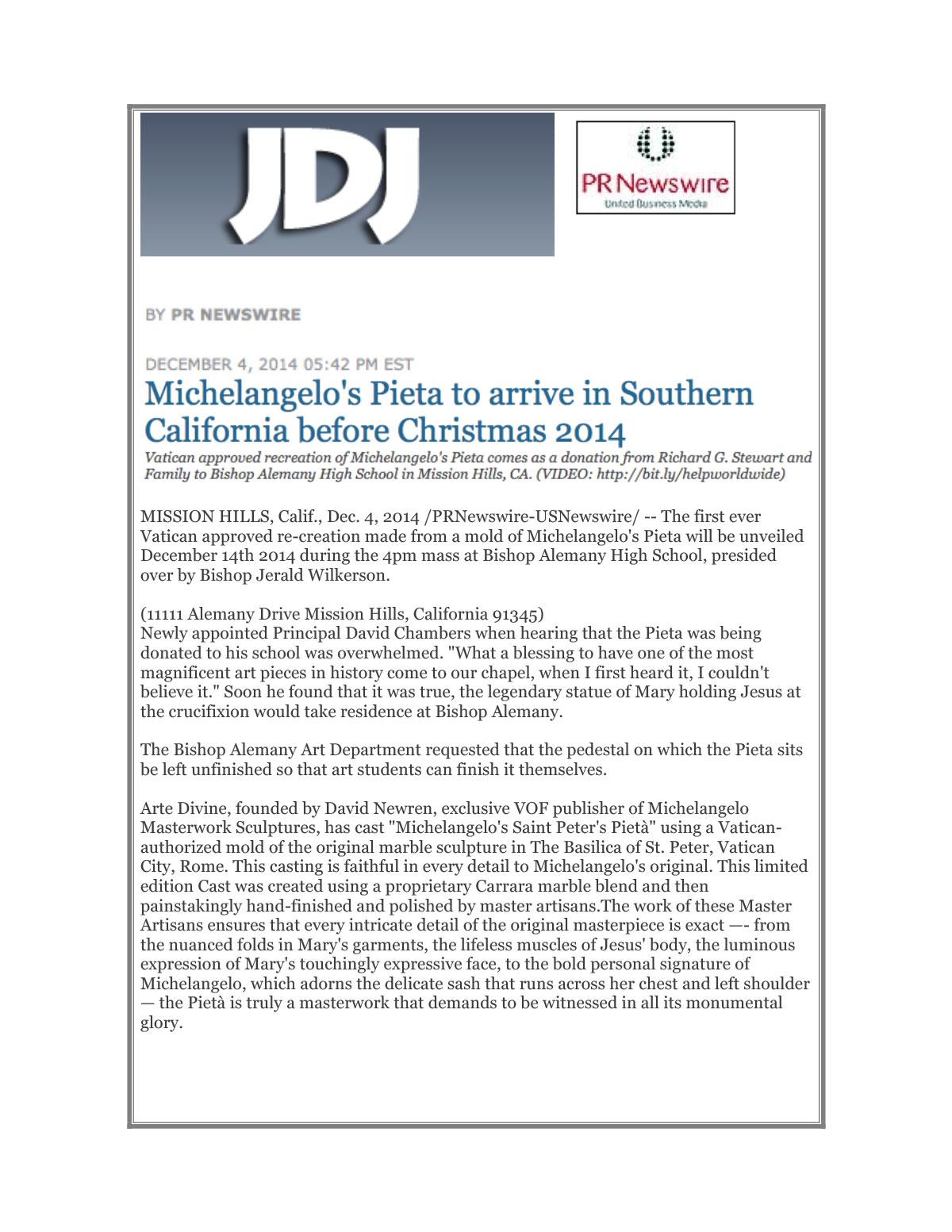 JDJ Pr Newswire Dec 4, 2014