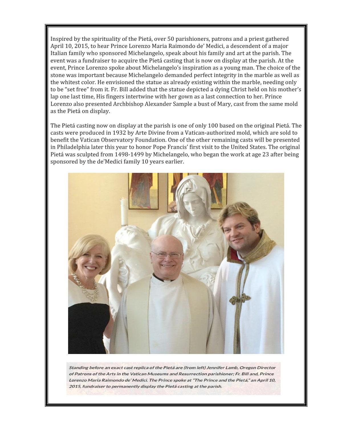 Resurrection Catholic Parish Tualatin, OR Dec 2015