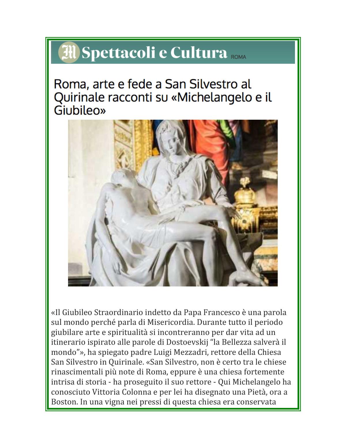 Roma, arte e fede a San Silvestro al Quirinale December 3, 201