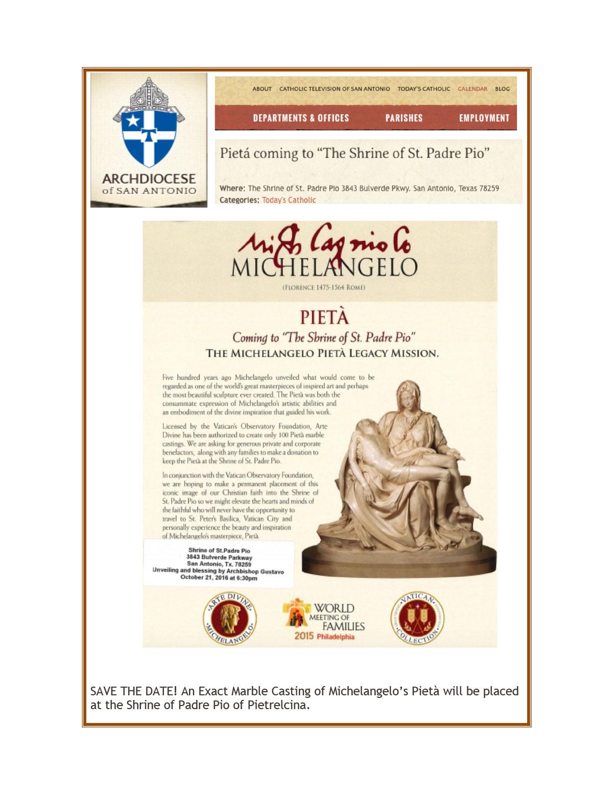 Shrine of Padre Pio, San Antonio, TX. Oct 2016