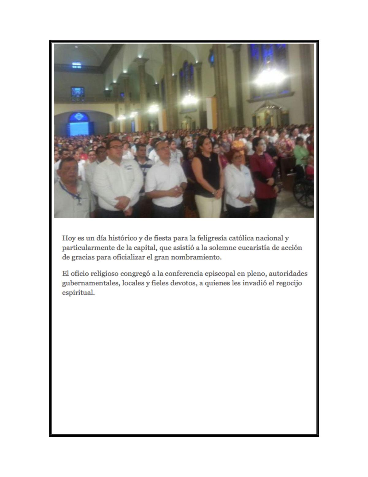 Mas noticias Basilica de Suyapa Honduras Oct 2015
