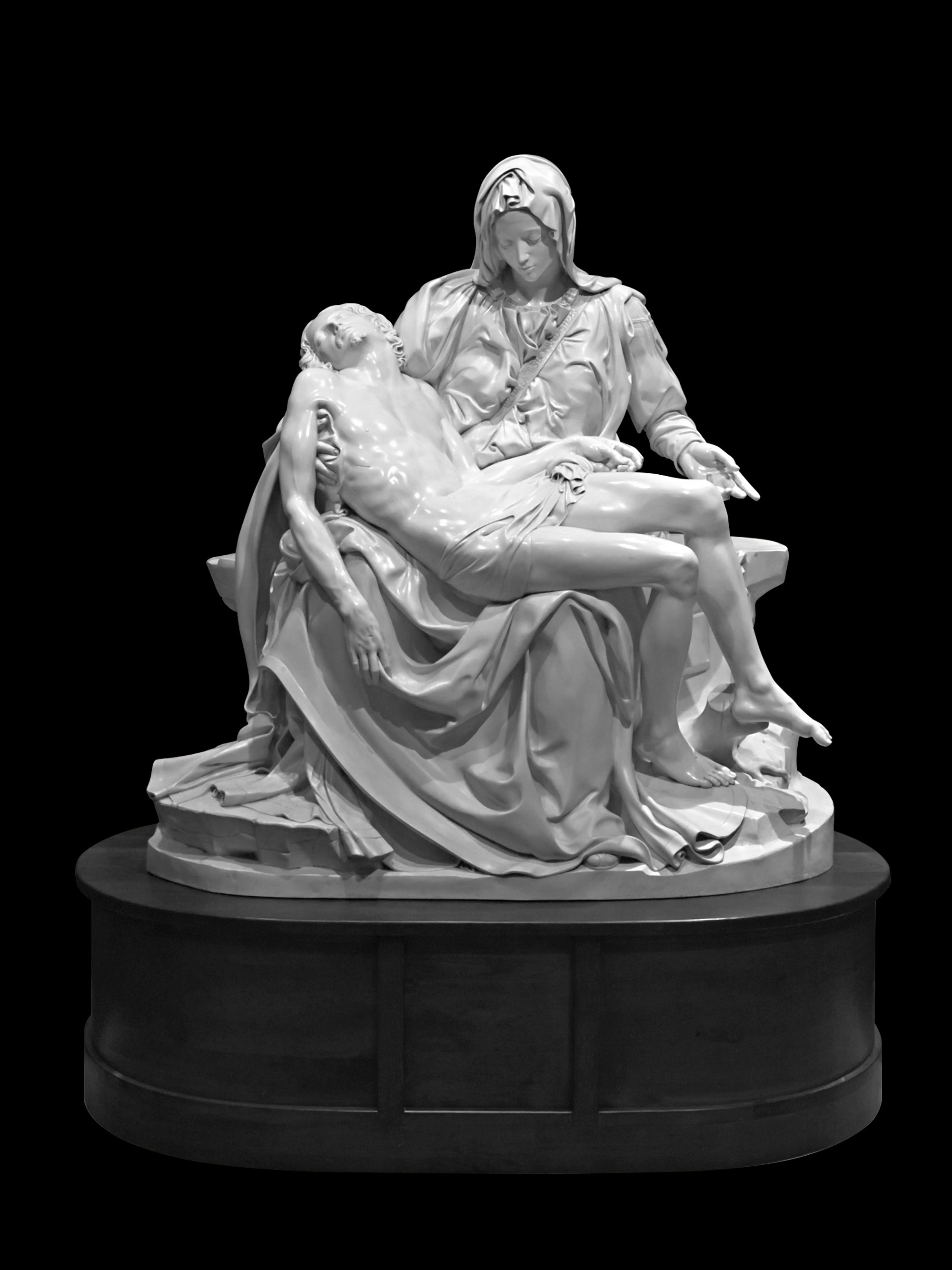 How do they make molds of classic sculptures pieta